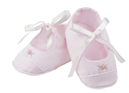 $24.95 Pink Booties with Rose