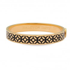 $185.00 Rose Bangle Black/Gold