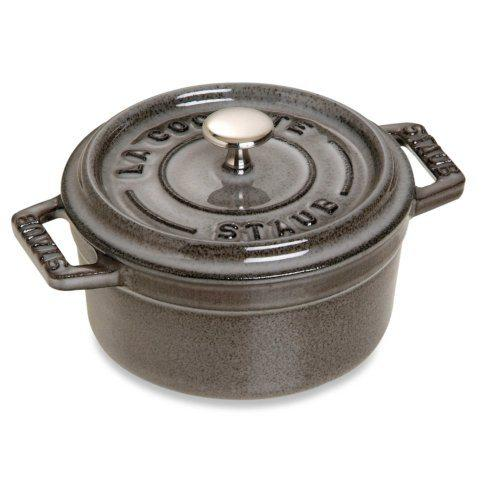$114.00 Cast Iron 0.25-qt Mini Round Cocotte Graphite Grey