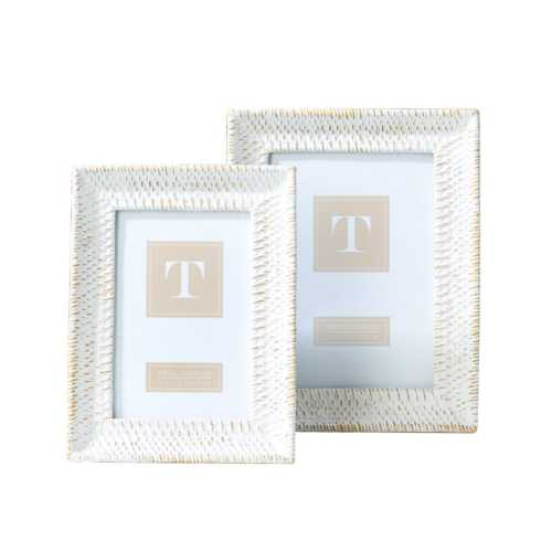 $22.50 White wash & gold 4x6 frame