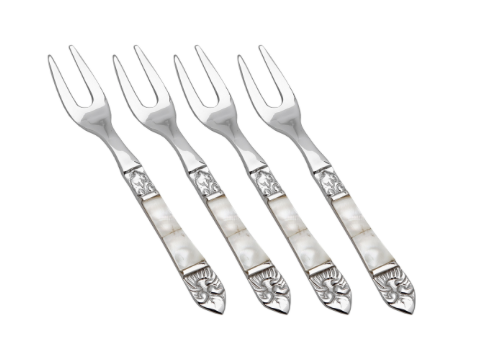 $68.00 Mother of Pearl Cocktail Forks Set of 4