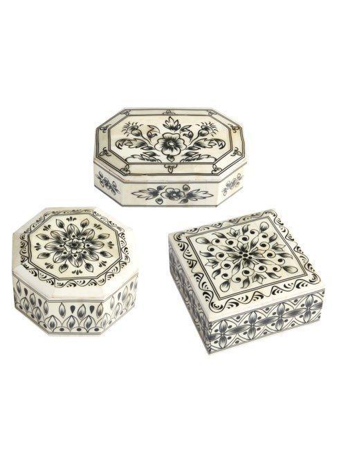 $40.00 Laxmi Vilas Palace Hand-Painted Bone Boxes EACH