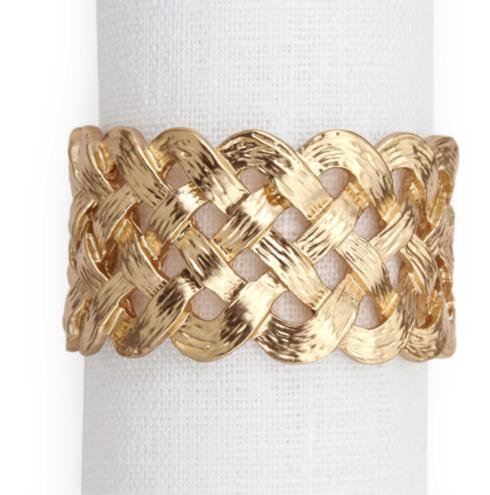 $39.50 Braid Napkin Ring Gold Each