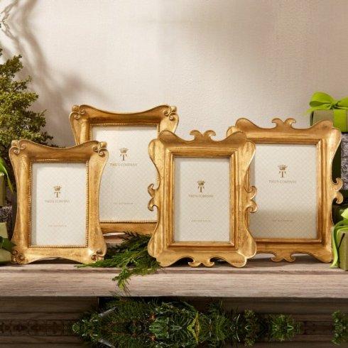 $35.00 Brocante Distressed Gold Leaf 4X6 Frame
