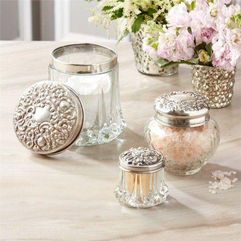 $50.00 Vintage Glass Vanity Jar Medium