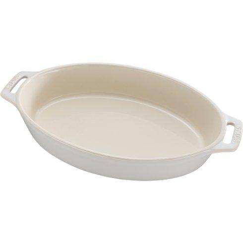 "$70.00 Ceramic 11"" Oval Baking Dish Rustic Ivory"