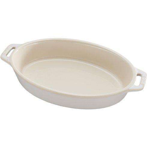 "$50.00 Ceramic 9"" Oval Baking Dish Rustic Ivory"