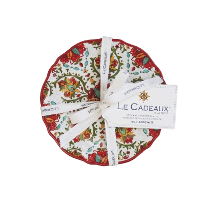 $34.95 Allegra Red Appetizer Plates ~ Set of 4