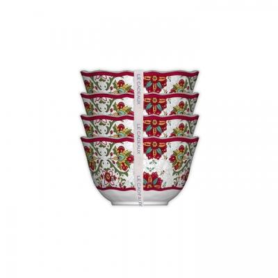 $33.95 Allegra Red Dessert Bowls ~ Set of 4