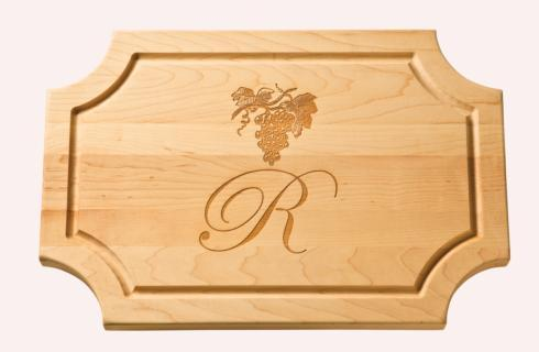 """$121.95 Personalized 18"""" Scalloped Wooden Cutting Board"""