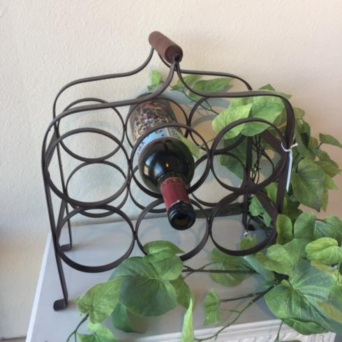 $51.95 Antique Broze 6 Bottle Wine Rack