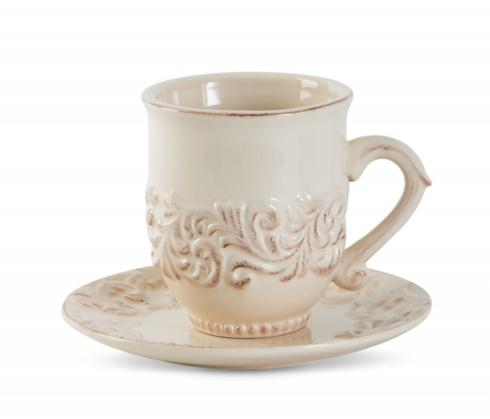 $22.95 Acanthus Leaf Cup and Saucer ~ Cream