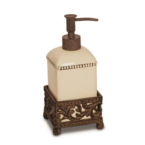 $40.95 Acanthus Leaf Single Soap Dispenser with Metal Base ~ Cream