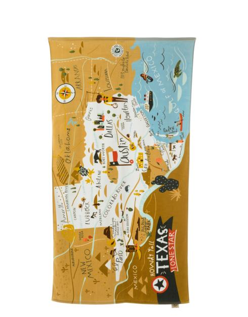 $39.00 Oh So Witty Texas Map Beach Towel