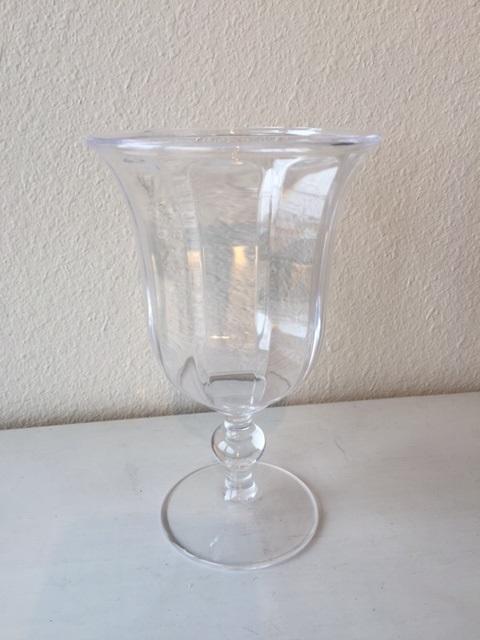 $7.95 Acrylic Goblet ~ Clear