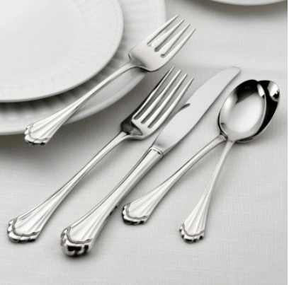 $75.00 Marquette 5 Piece Flatware Place Setting