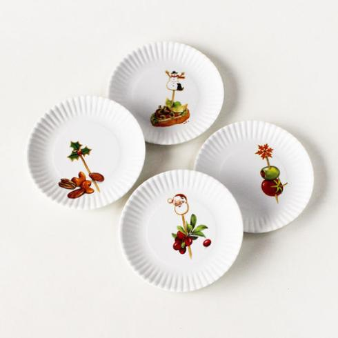 $14.95 Holiday Appetizer Plates ~ Set of 4