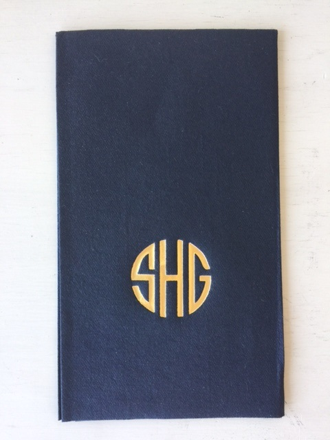 $117.95 Personalized Navy Guest Towel - Set of 100