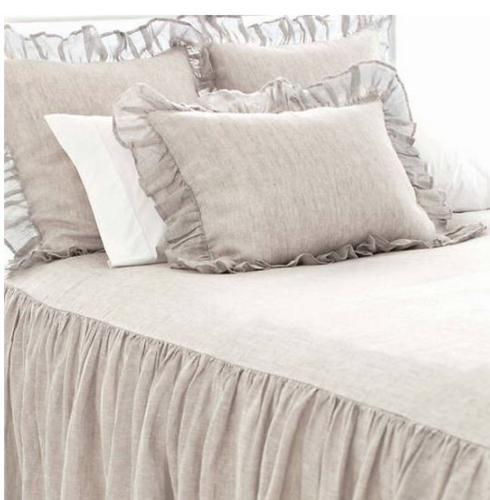 $512.00 Savannah Linen Chambray Bedspread ~ Dove Grey ~ King
