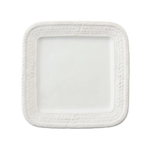 $40.00 Le Panier Square Dinner Plate ~ Whitewash