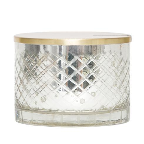 $41.95 Mercury Glass Bowl Candle ~ Blue Jean