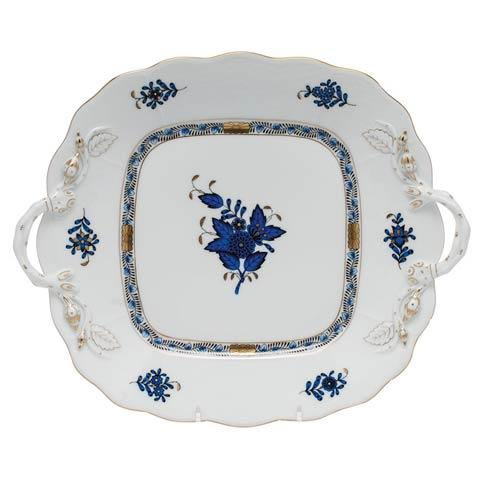 $415.00 Square Cake Plate w/handles