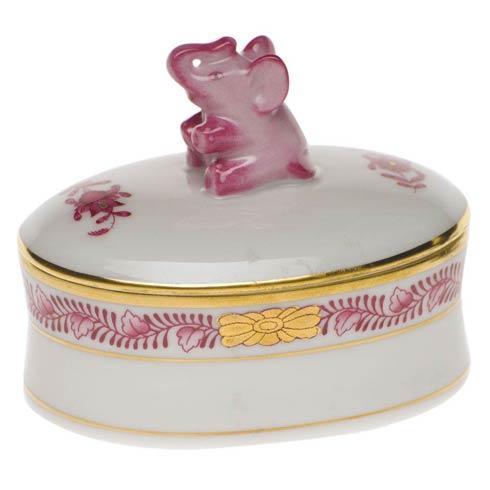 $130.00 Oval Box - Elephant