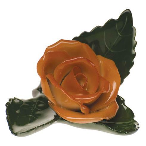 $60.00 Rose On Leaf - Rust