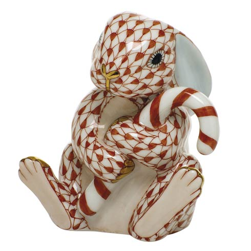 $395.00 Candy Cane Bunny-Rust