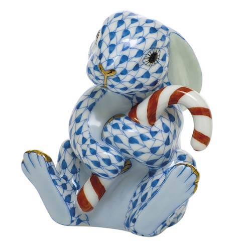 $395.00 Candy Cane Bunny-Blue
