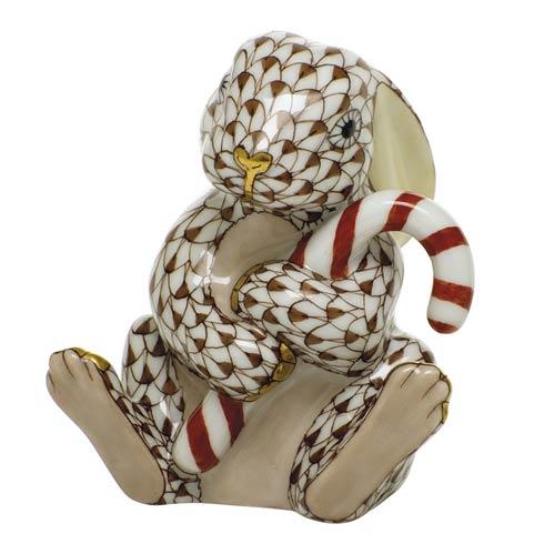 $395.00 Candy Cane Bunny-Chocolate