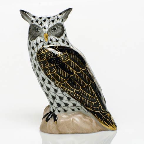 $325.00 Great Horned Owl - Black
