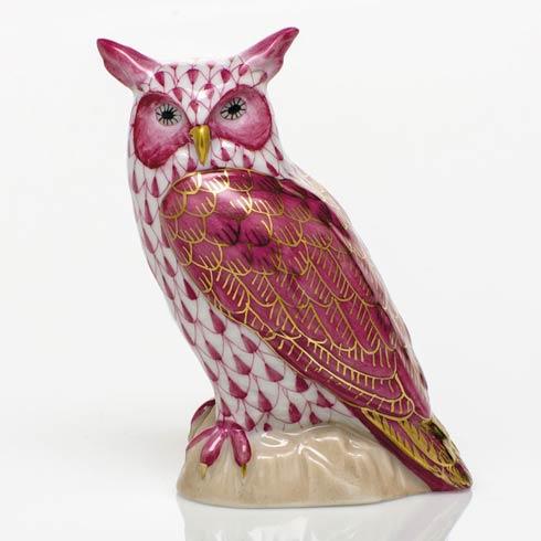 $325.00 Great Horned Owl - Raspberry
