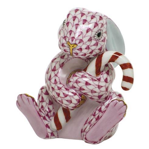 $395.00 Candy Cane Bunny-Raspberry