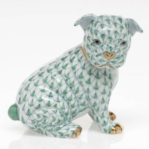 $255.00 Bulldog Puppy - Green