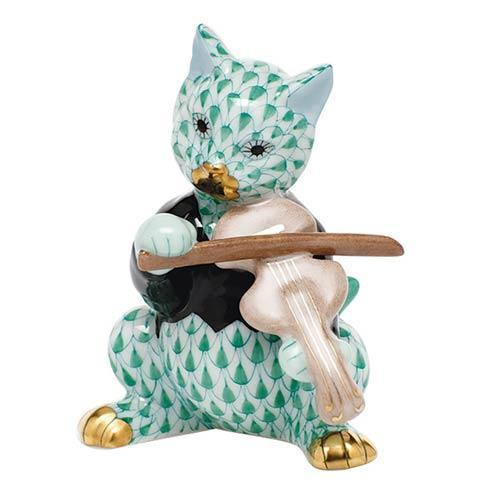 $325.00 Cat with Fiddle - Green