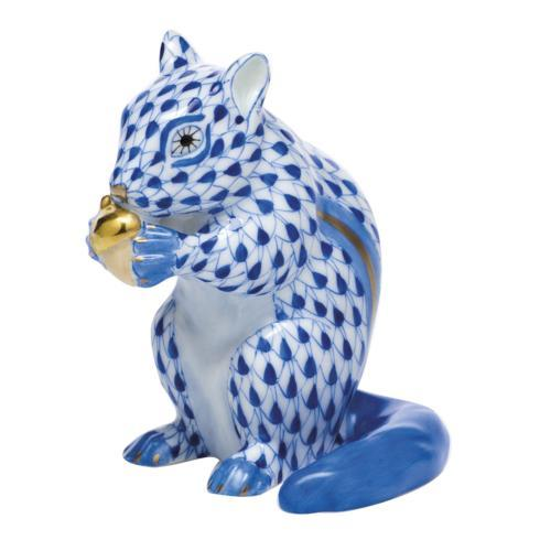 $395.00 Chipmunk with Acorn - Sapphire