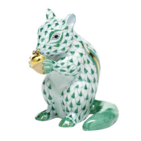 $395.00 Chipmunk with Acorn - Green