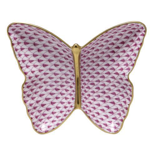 $285.00 Butterfly Dish - Raspberry