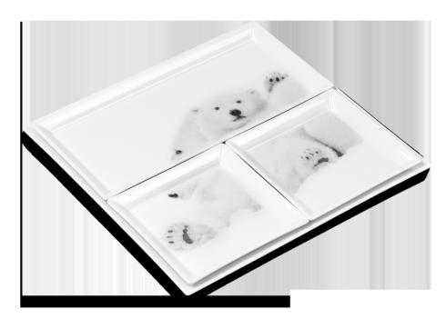 $410.00 Set of 4 Trays - Emotion Arctique
