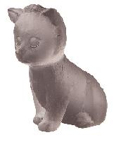 $195.00 Grey Sitting Mini Kitten