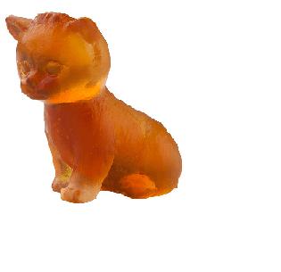$195.00 Amber sitting mini kitten