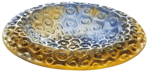 $1,250.00 Small blue amber bowl