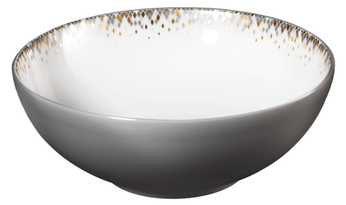 $98.00 Cereal bowl with eclipse grey on the exterior