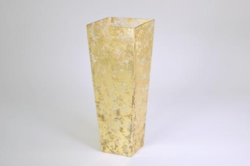 "$120.00 12"" Tapered Gold Wabisabi Vase"