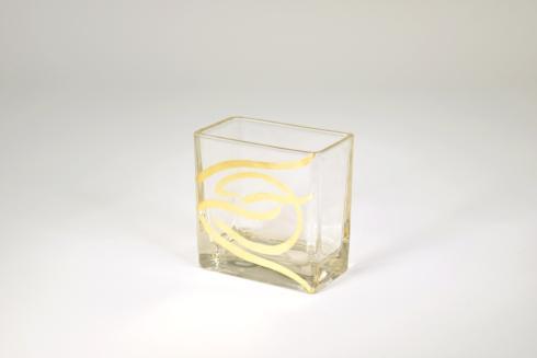 """$30.00 4""""x4""""x2"""" Short Swirl Vase"""