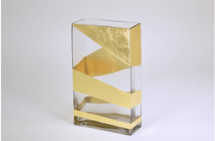 "$82.00 Roadz Rectangular Vase 10""x6"""