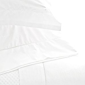 $208.00 Classic Hemstitch White Full Sheet Set
