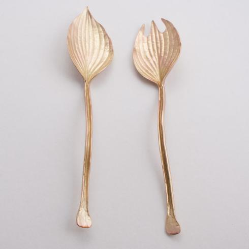 $64.00 Gold Hosta Salad Servers