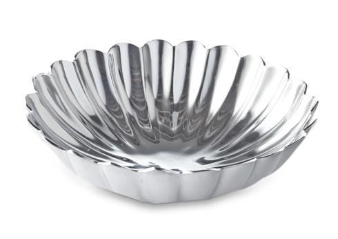 "$123.00 12"" Round Deep Bowl Silver"